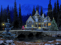 Screenshot of 3D Christmas Cottage