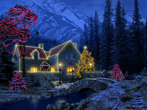 Small screenshot 2 of 3D Christmas Cottage