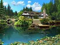 Screenshot of 3D Lake Cabin