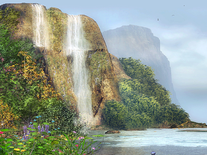 Screenshot of Bay Near the Waterfall