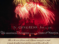 Screenshot of Declaration of Independence