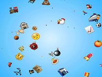 Screenshot of Emoji Rain