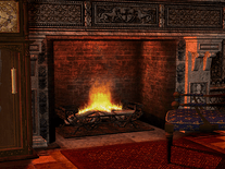 Screenshot of Gothic Fireplace