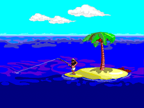 Screenshot of Johnny Castaway