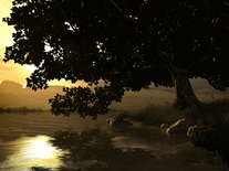 Screenshot of Lake Tree 3D