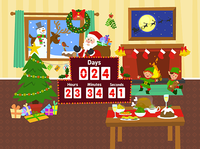 Christmas Countdown Screensaver