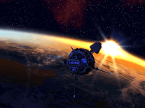 Screenshot of Orbital Sunset 3D