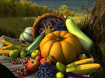 Screenshot of Thanksgiving Day 3D