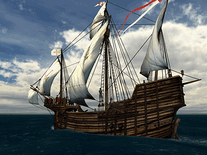 Screenshot of Voyage of Columbus 3D