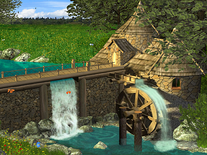 Screenshot of Watermill by Waterfall