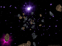 Screenshot of 3D Asteroids