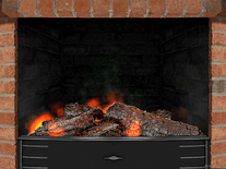 Screenshot of 3D Cozy Fireplace