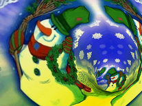 Screenshot of 3D Merry Christmas Tunnels