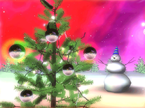 Screenshot of 3D Space Christmas