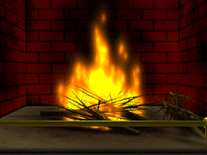 Screenshot of 8-Bit Fireplace