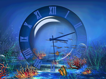 Screenshot of Aquatic Clock