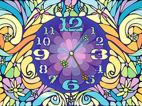 Screenshot of Blossom Clock
