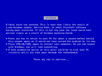 Screenshot of BSOD Parody
