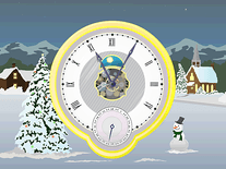 Screenshot of Christmas Clock