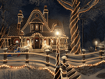 Screenshot of Christmas Cottage 3D