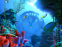 Screenshot of Coral Clock 3D