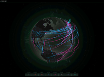 Screenshot of Cyberthreat Real-Time Map