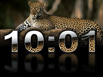 Small screenshot 1 of Digital Leopard Clock