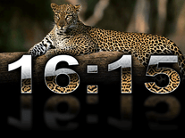 Small screenshot 2 of Digital Leopard Clock