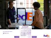 Screenshot of FedEx Calendar 2016