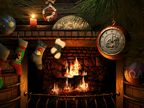 Screenshot of Fireside Christmas 3D
