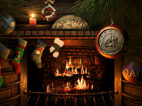 Small screenshot 3 of Fireside Christmas 3D