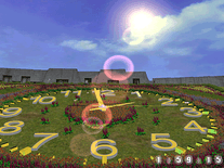 Screenshot of Flower Clock 3D