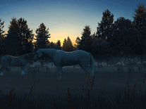 Screenshot of Fog Horses 3D