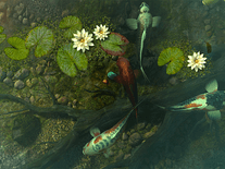 Screenshot of Koi Pond Garden 3D