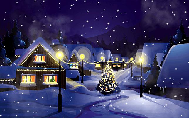 Christmas Snow Screensaver For Windows Screensavers Planet