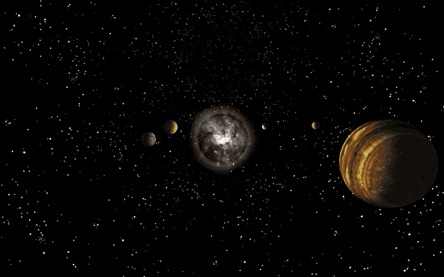 Dark Solar System Screensaver For Windows Screensavers