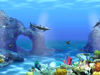 Screenshot of Living 3D Dolphins