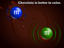 Screenshot of M&M's Chocolate River