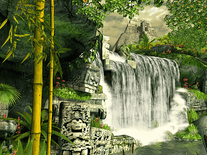 Screenshot of Mayan Waterfall 3D