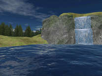 Screenshot of Mountain Lake Waterfall