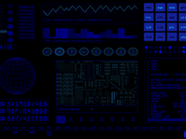 Screenshot of Retro Sci-Fi Blue Edition