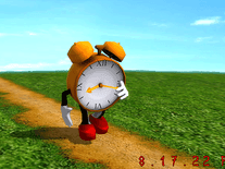 Screenshot of Running Clock 3D