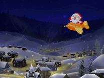 Screenshot of Santa Track