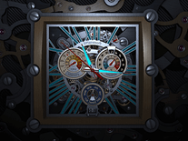Screenshot of Skeleton Clock 3D