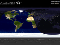 Screenshot of Star Alliance Flight Tracker