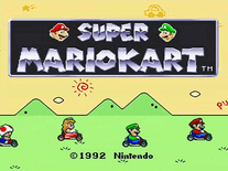 Screenshot of Super Mario Kart