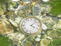 Screenshot of Underwater Clock