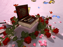 Screenshot of Valentine Music Box 3D